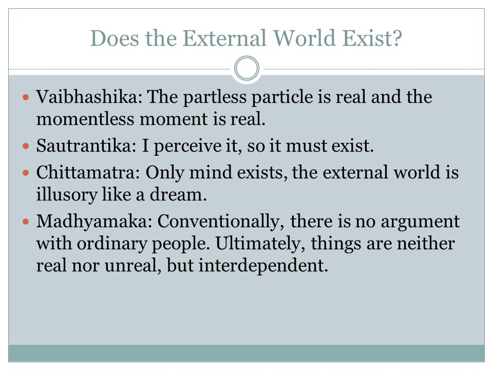 Does the External World Exist
