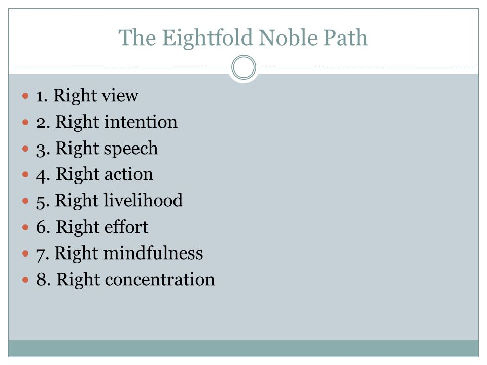 The Eightfold Noble Path