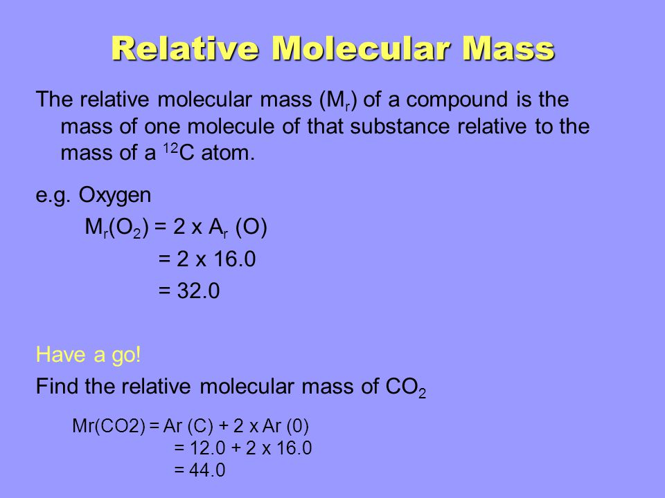 Relative Atomic Mass And The Mole Ppt Video Online Download