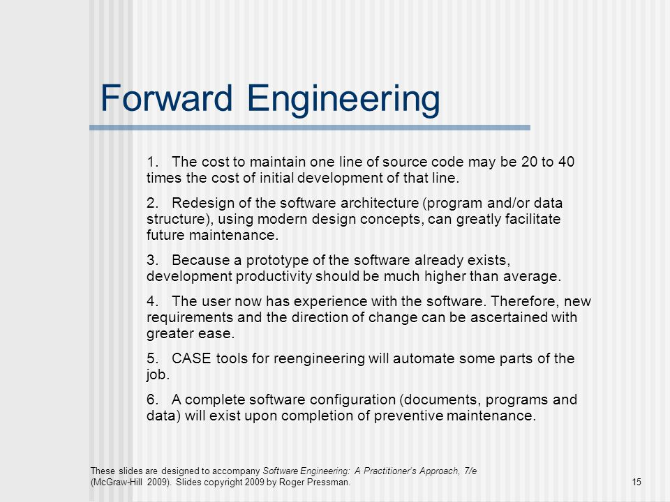 Chapter 29 Maintenance And Reengineering Ppt Video Online Download