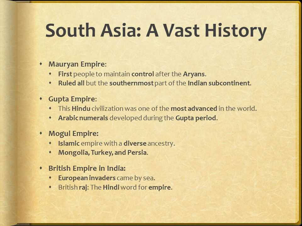 South Asia: A Vast History