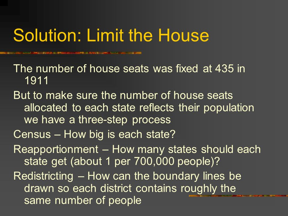 Solution: Limit the House