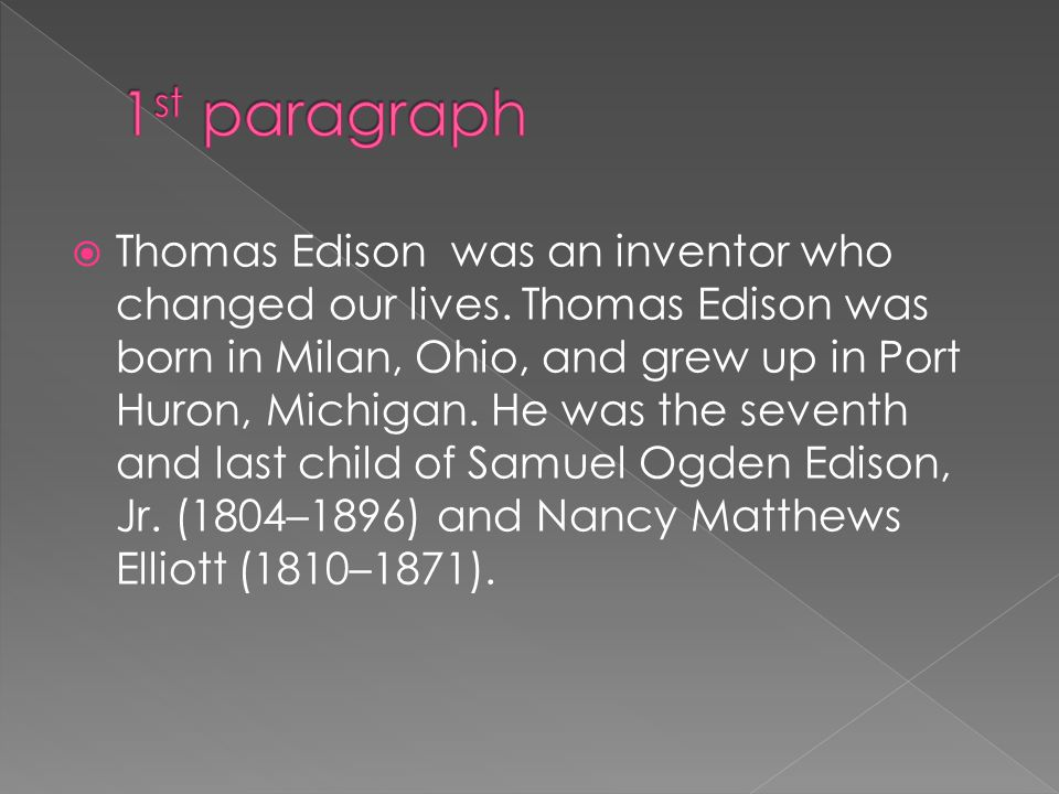 Thomas Edison and his Inventions - ppt video online download