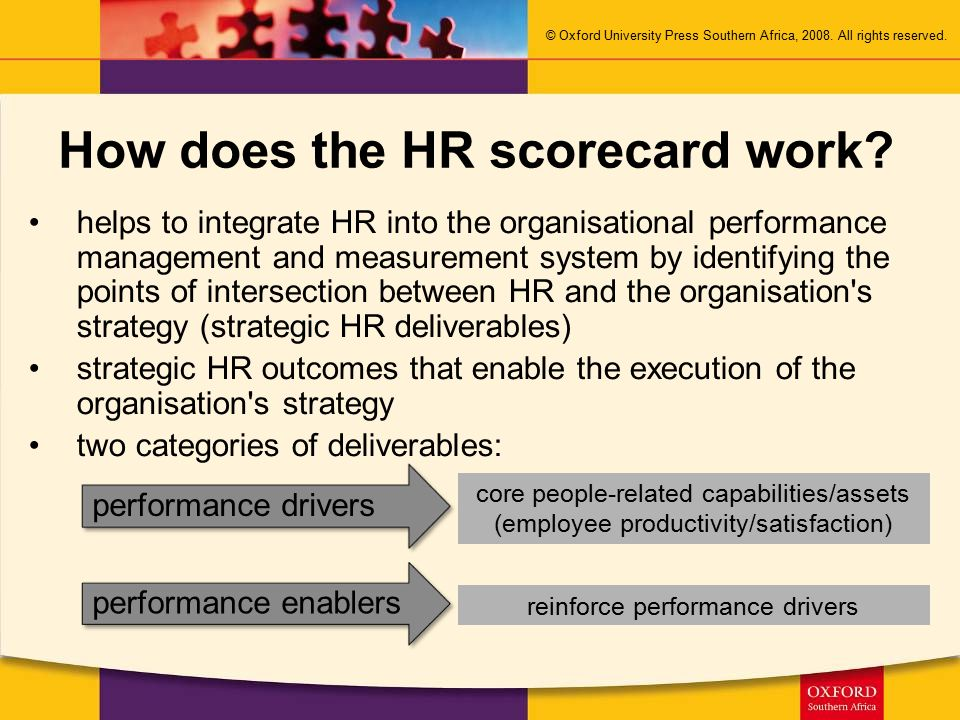 How does the HR scorecard work