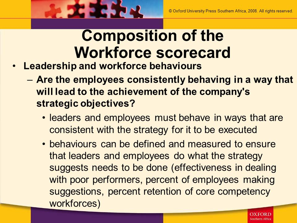 Composition of the Workforce scorecard