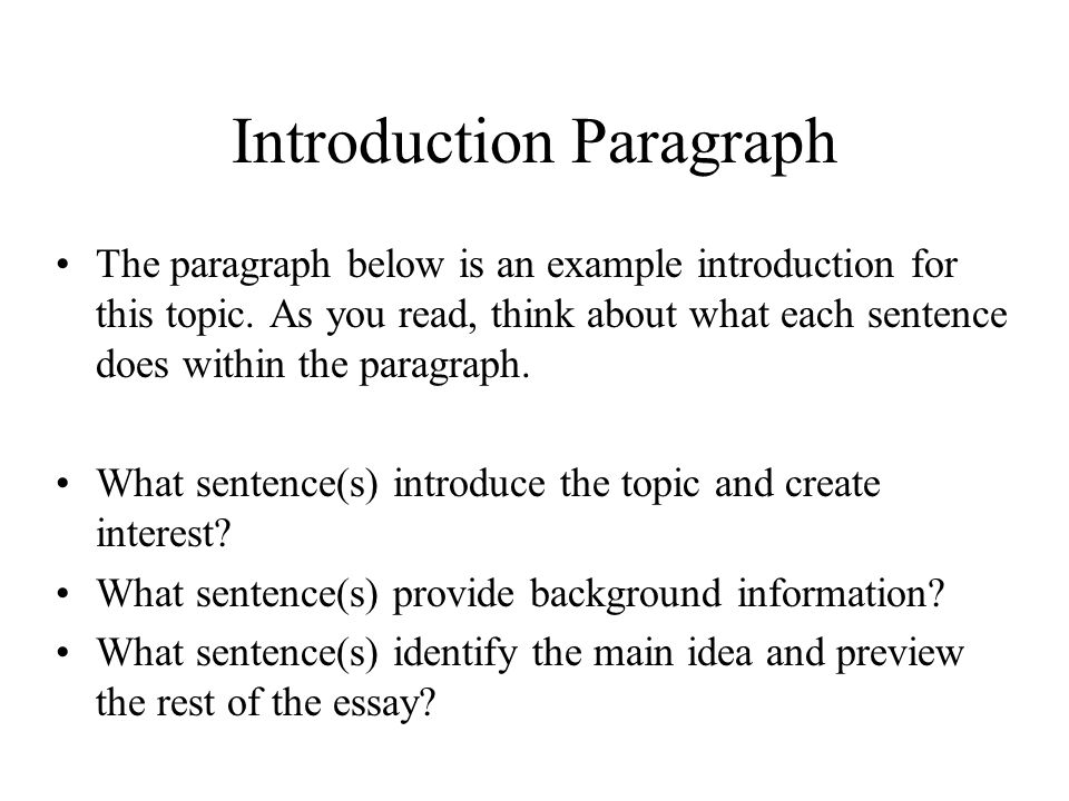 writing an introduction to an essay