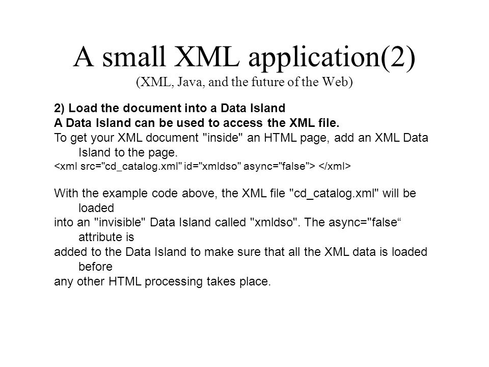 how are html xml and java affecting business applications on the web The course is intended for students with a working knowledge of xml who want to build xml web applications or components using net and the c# language everything in the course adheres to w3c and net standards for highly portable code.