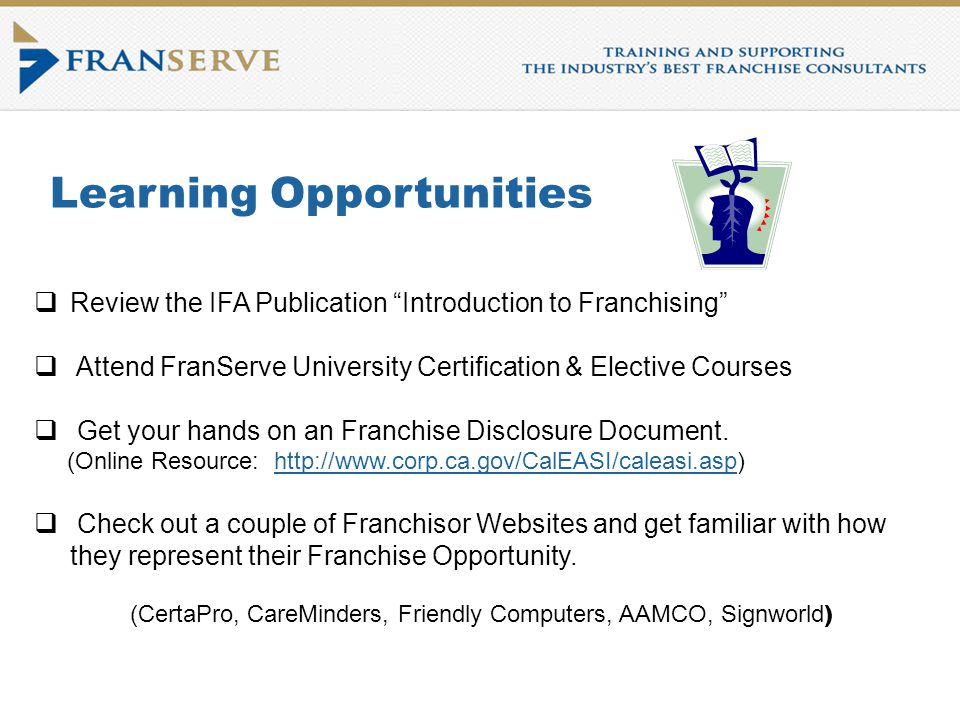 Introduction to Franchising Course Franchise Intellect, Inc