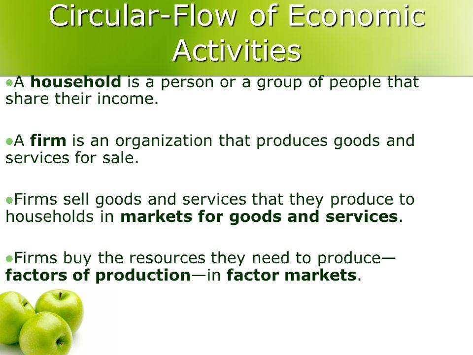 circular flow of economic activity explanation
