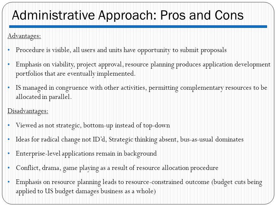 advantages of administrative management