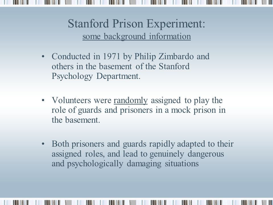 stanford experiment summary