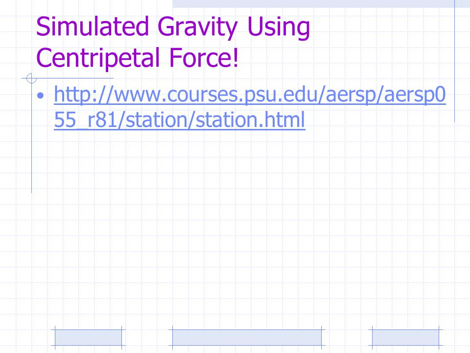 Simulated Gravity Using Centripetal Force!
