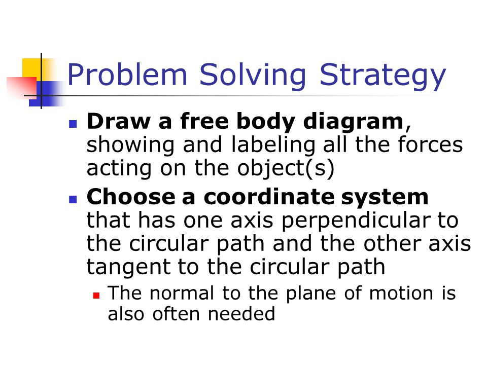 Problem Solving Strategy