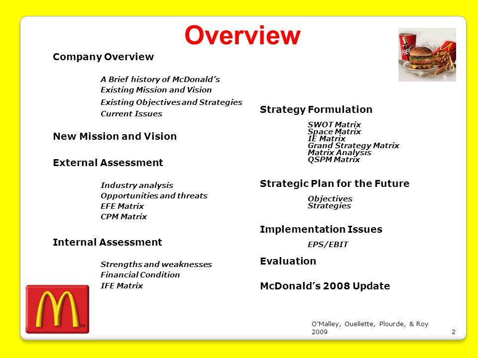 McDonalds Case Study free essay sample - New York Essays
