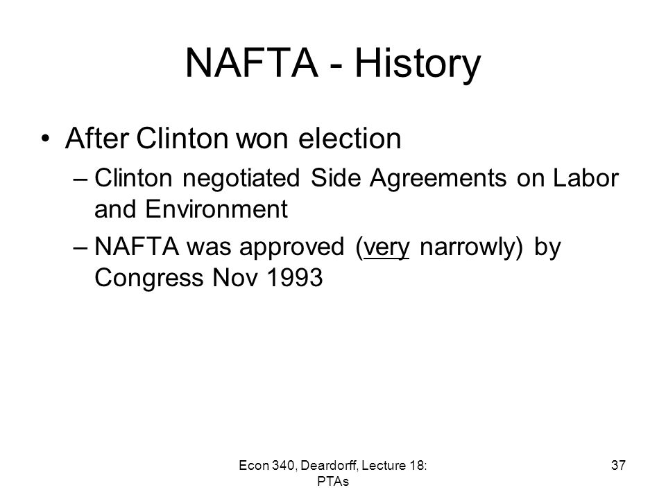 Lecture 18 Preferential Trading Arrangements And The Nafta Ppt