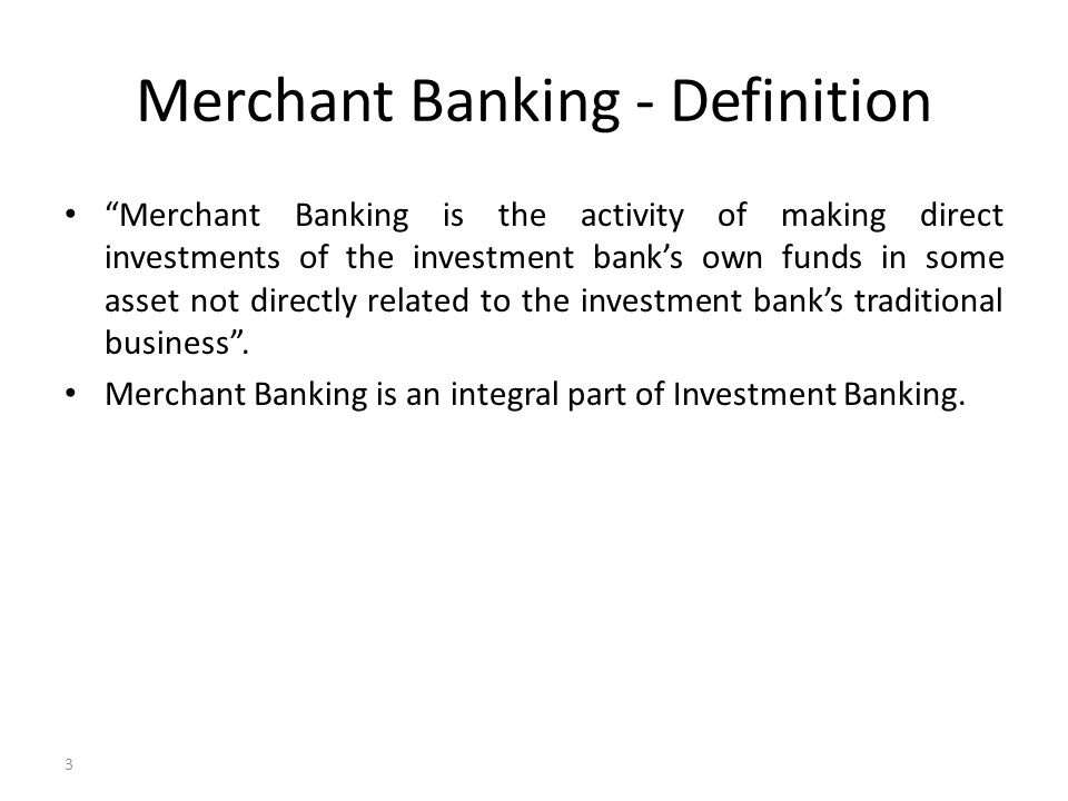 definition investment banking