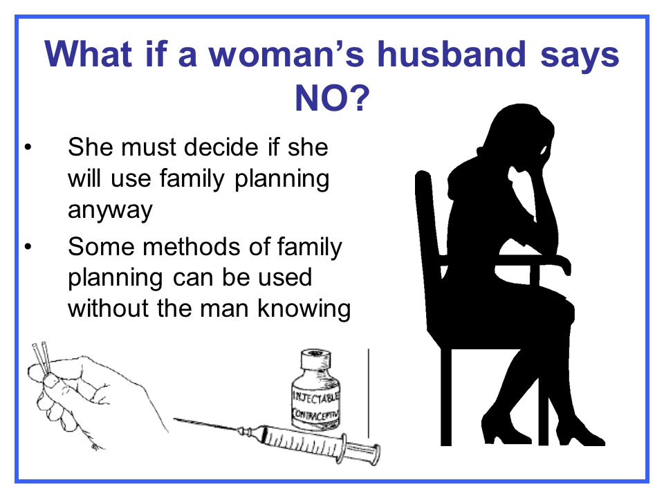 What if a woman's husband says NO