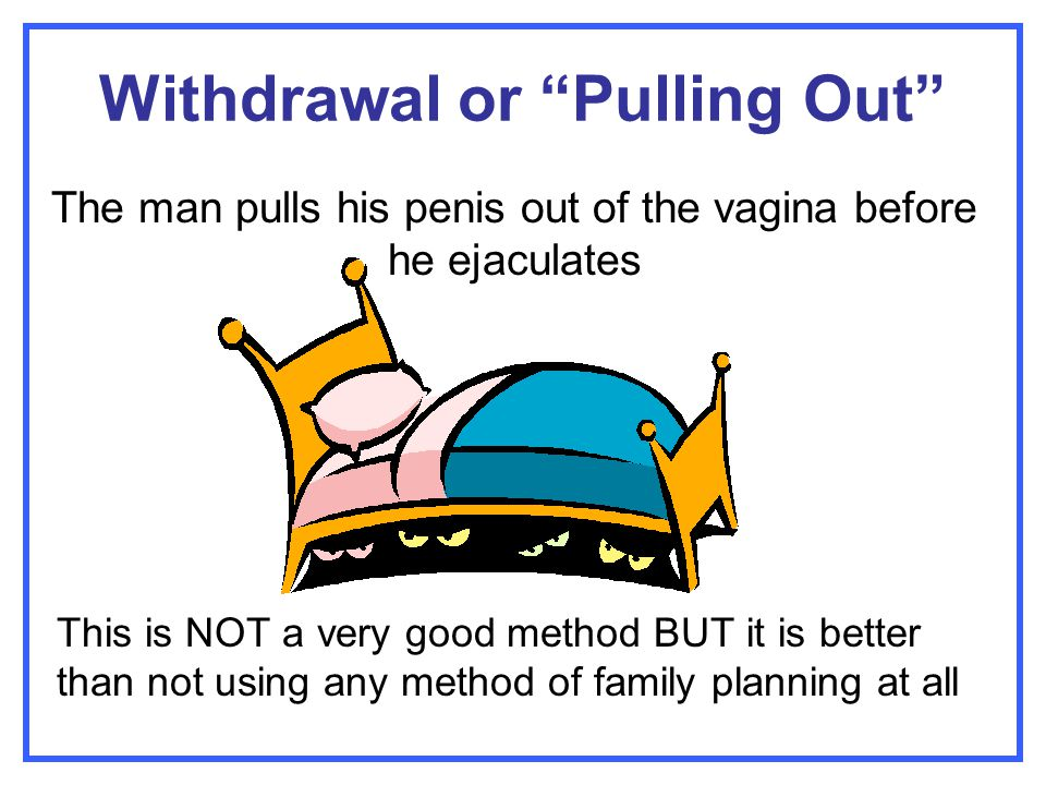 Withdrawal or Pulling Out