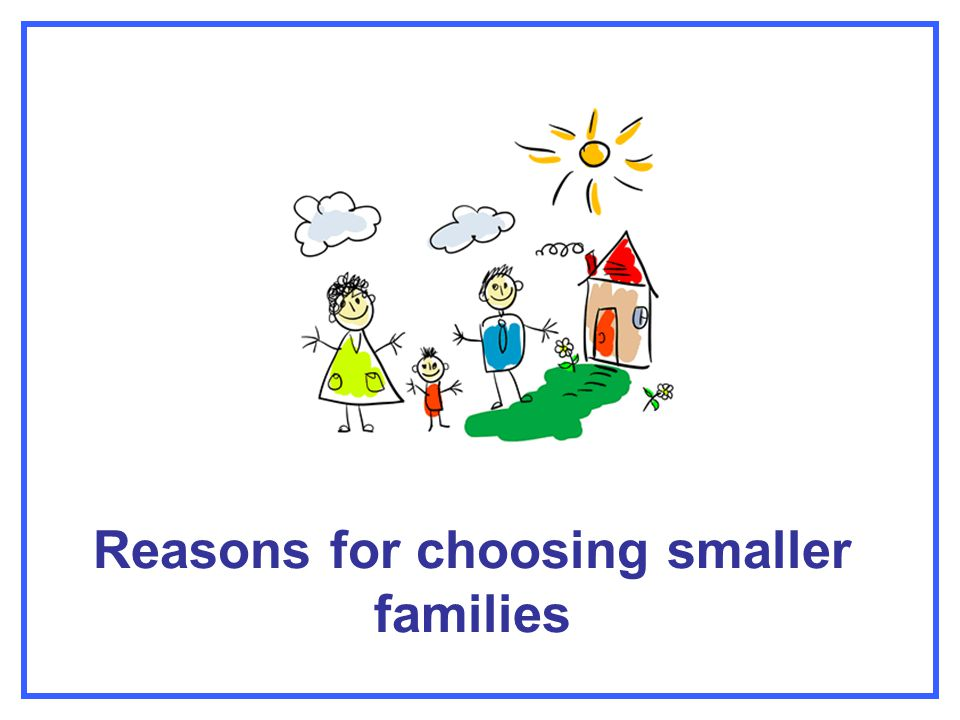 Reasons for choosing smaller families