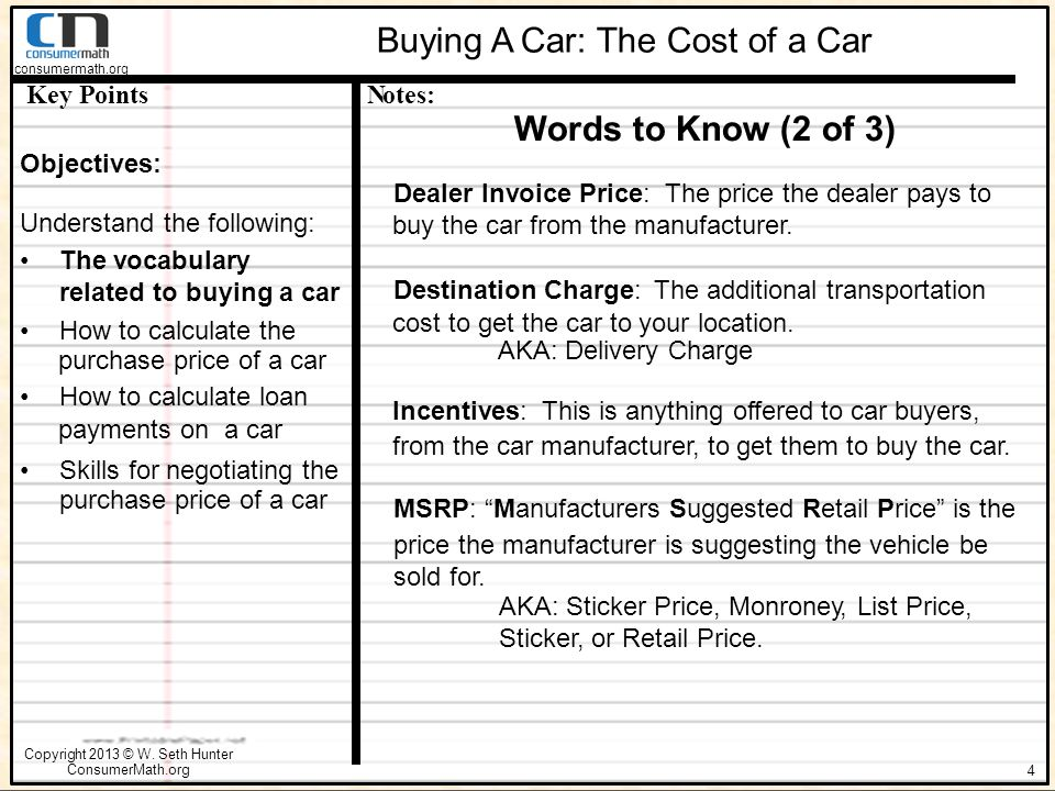 Steps In The Car Buying Process Ppt Download - Car dealer invoice price list