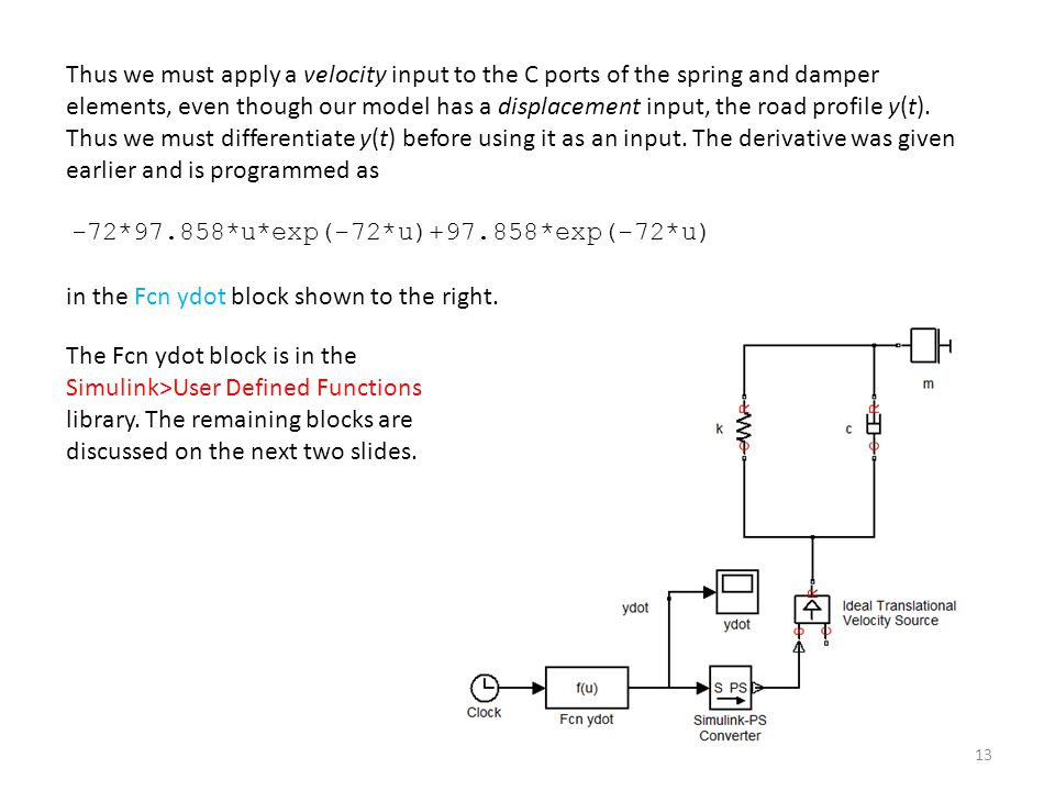 Using Simscape™ for Modeling Vibration Problems: - ppt download