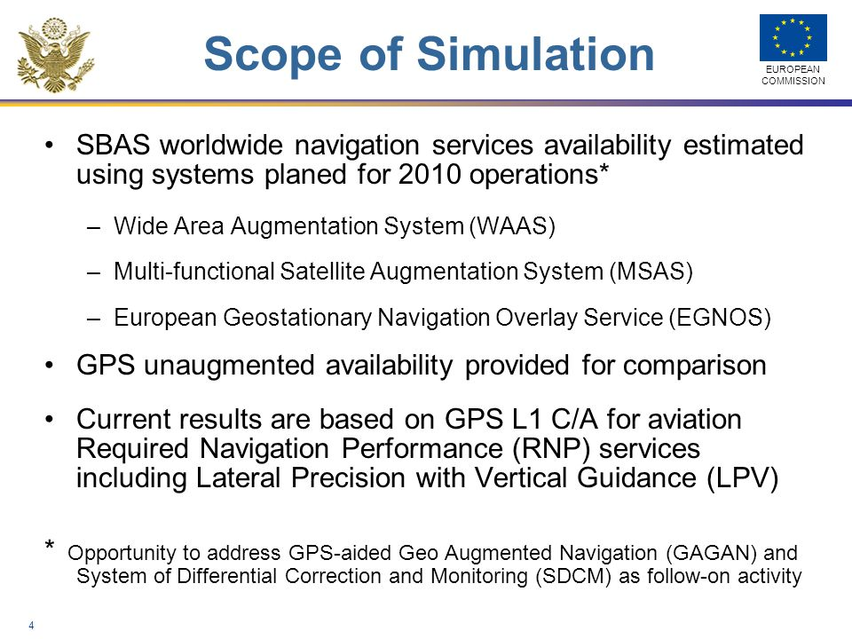 Scope of Simulation SBAS worldwide navigation services availability estimated using systems planed for 2010 operations*