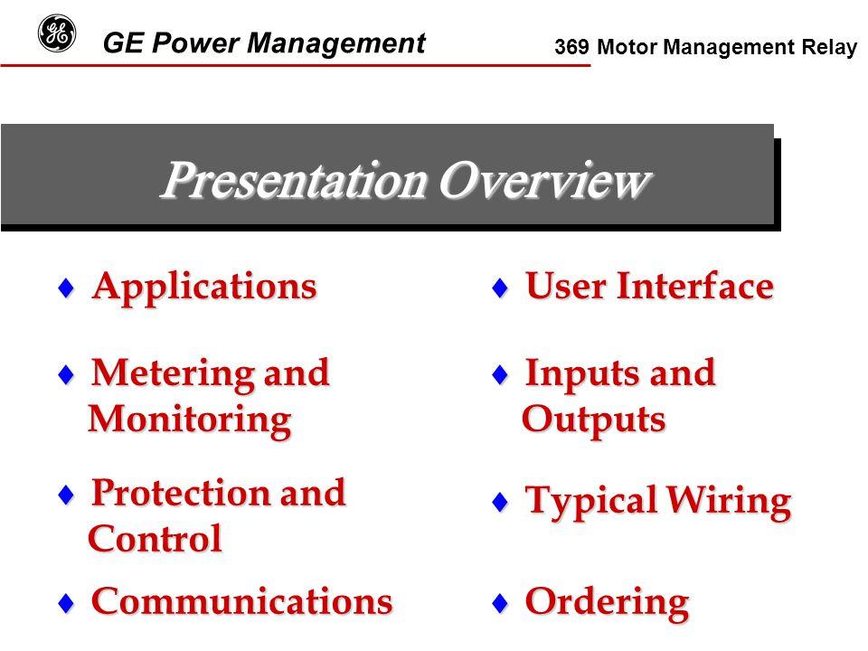 g ge power management 369 motor management relay ppt video online 4 wire rtd 369 rtd wiring diagram #13