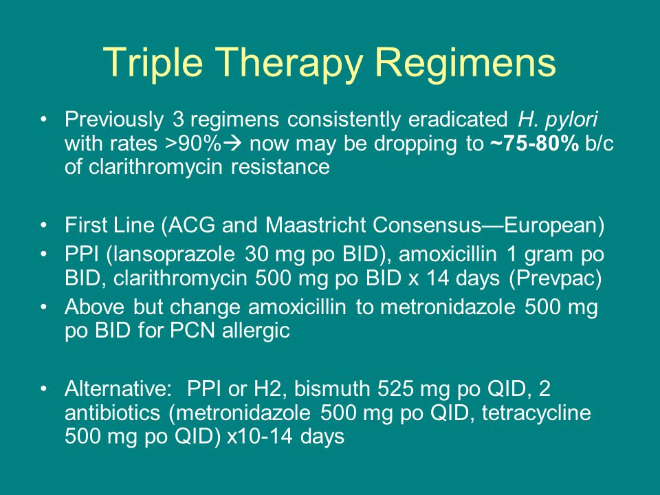 Triple Therapy Regimens