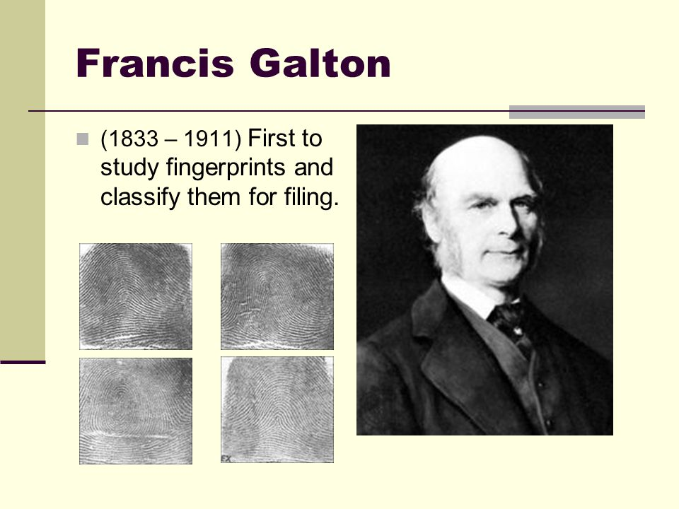 francis galton forensic science