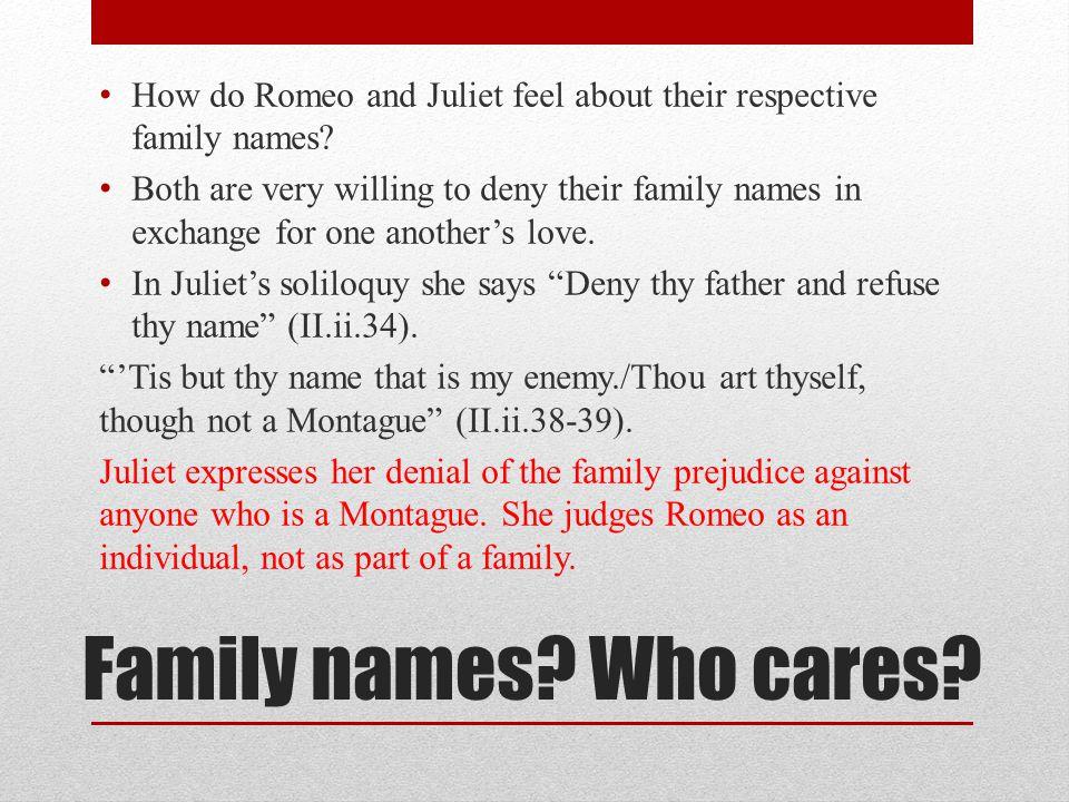 romeo juliet last names