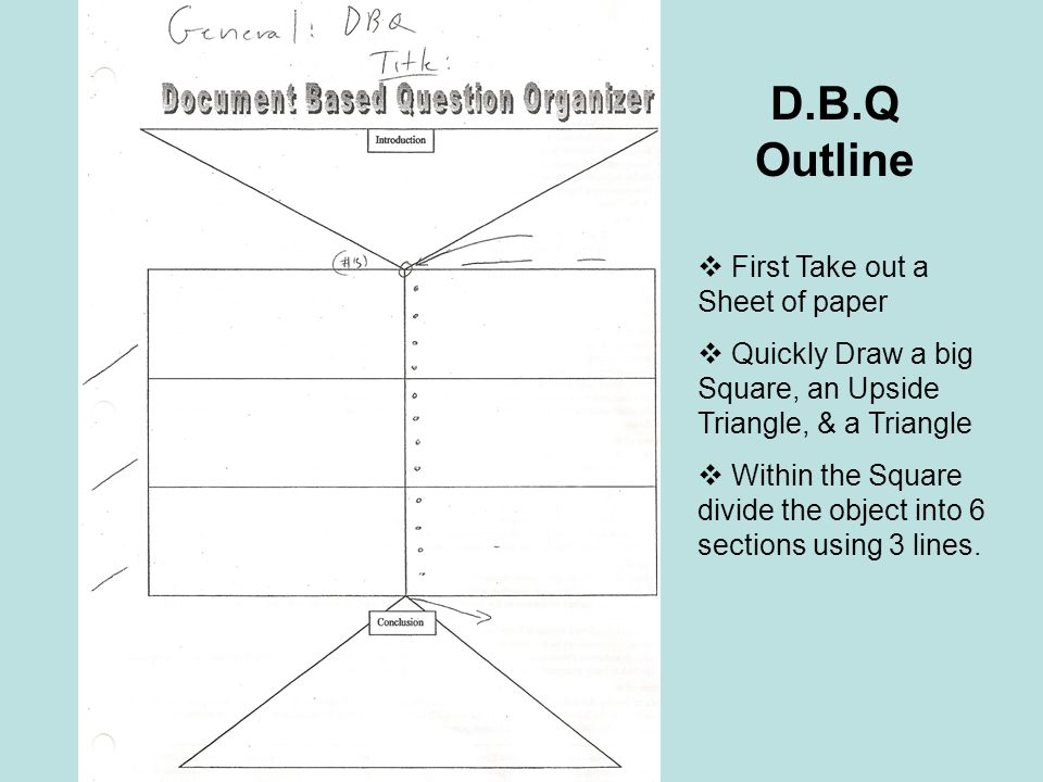 D.B.Q Outline First Take out a Sheet of paper