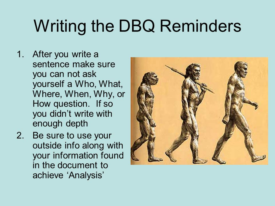 Writing the DBQ Reminders