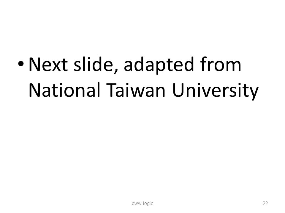 Next slide, adapted from National Taiwan University