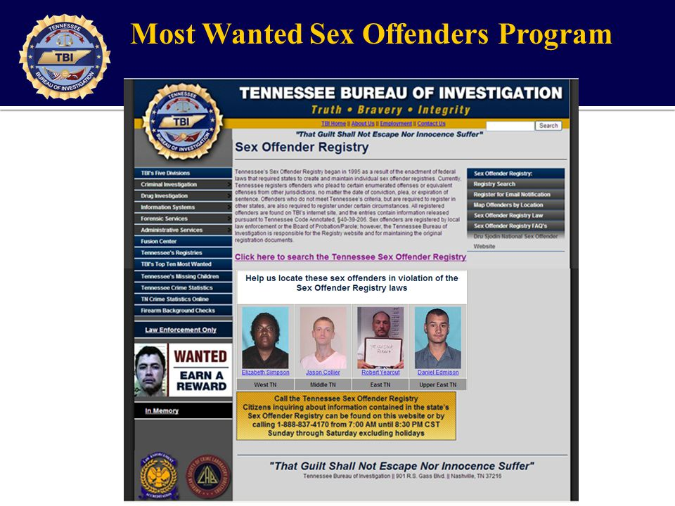 Tennessee Sex Offender Registry - ppt video online download
