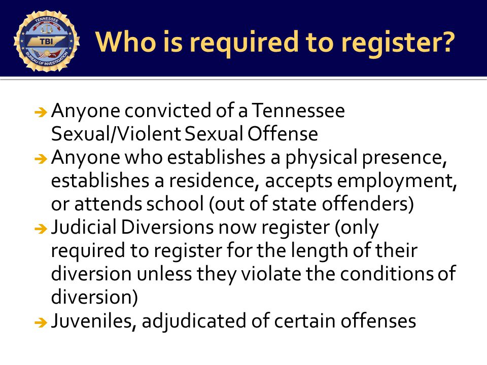 Tbi tn sexual offender registry