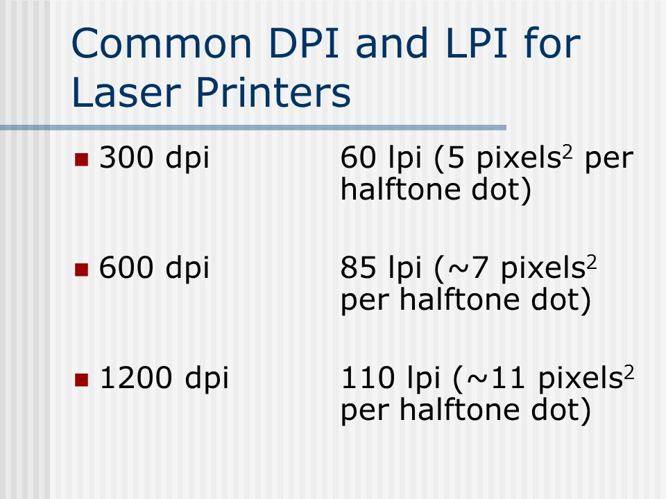 what is dpi in printing