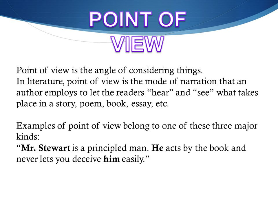Point of view lessons tes teach.