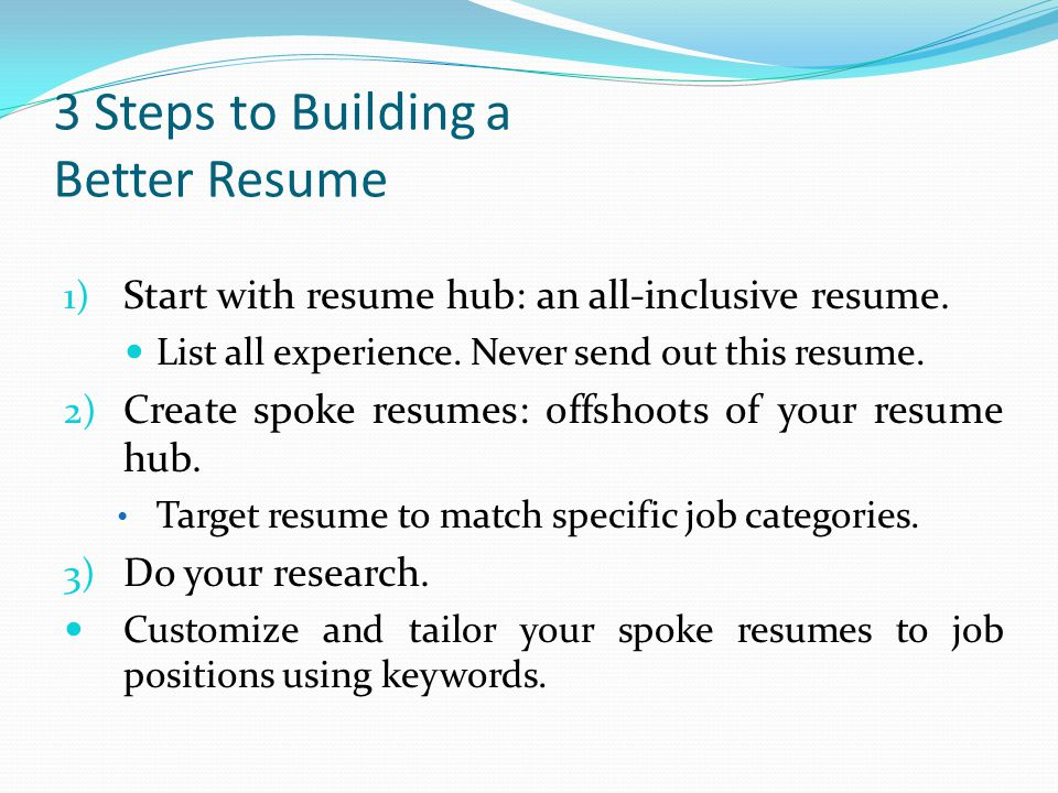 3 Steps to Building a Better Resume