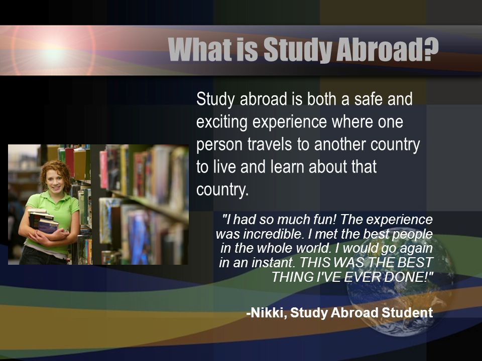 What is Study Abroad