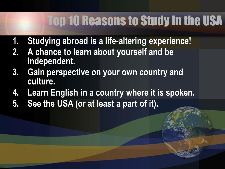 Top 10 Reasons to Study in the USA