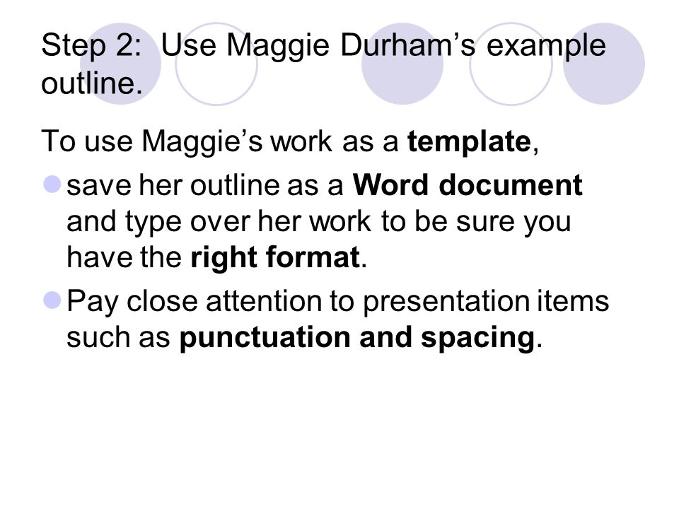 Outline Of An Informative Essay  Ppt Video Online Download Step  Use Maggie Durhams Example Outline Custom Writings Scam also Research Essay Proposal  Health Promotion Essay