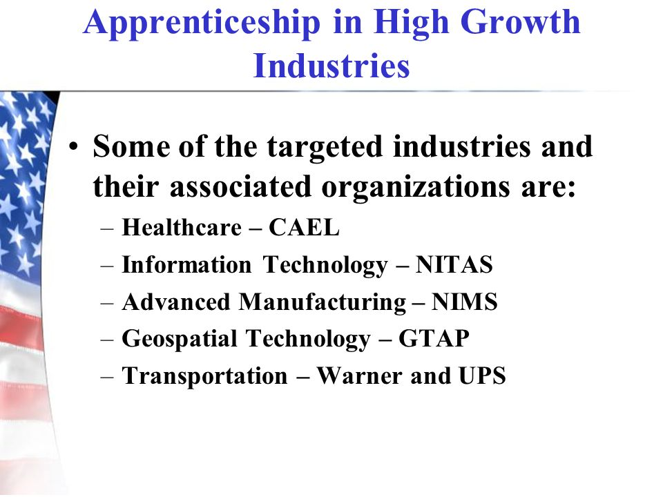 Apprenticeship in High Growth Industries