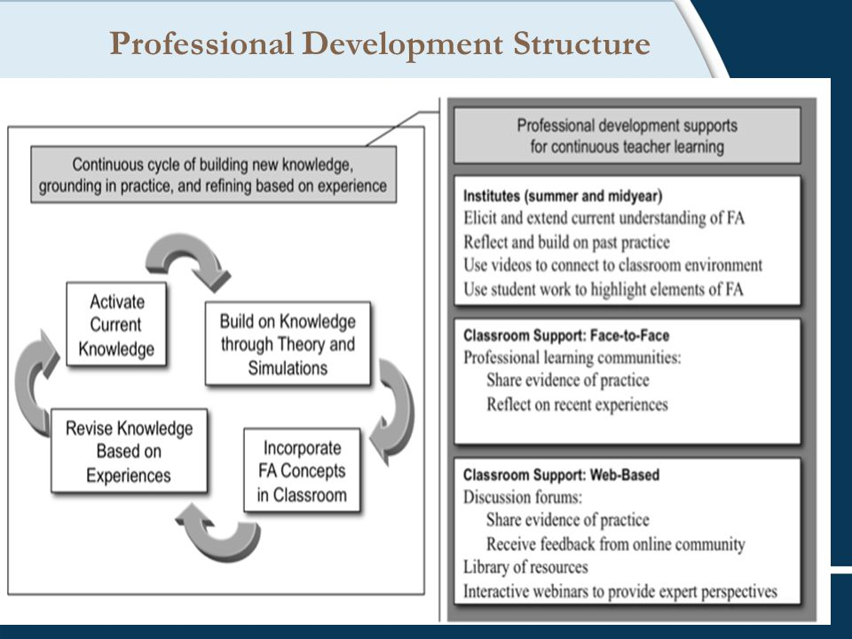 Professional Development Structure
