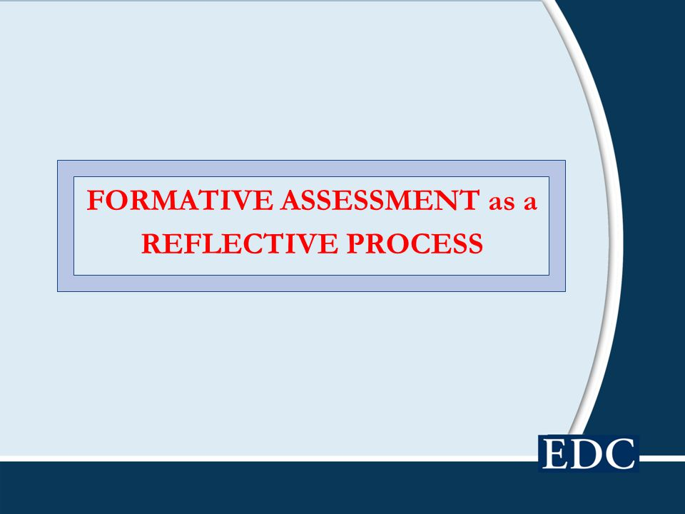 FORMATIVE ASSESSMENT as a