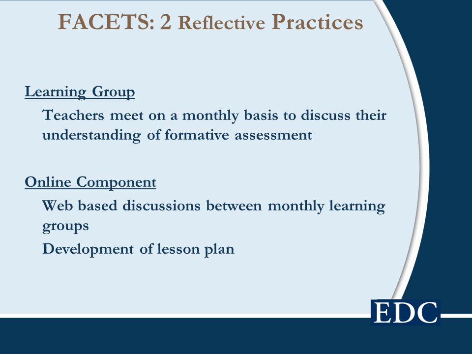 FACETS: 2 Reflective Practices