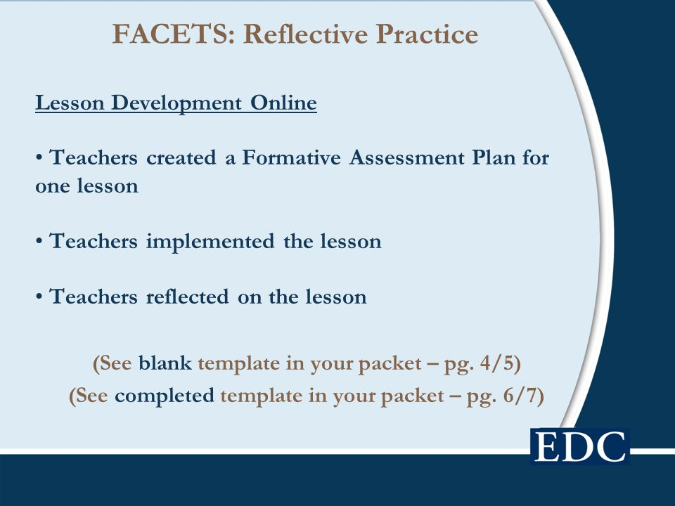 FACETS: Reflective Practice