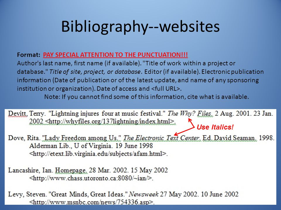 Formatting Your Research Paper  Ppt Video Online Download  Bibliographywebsites