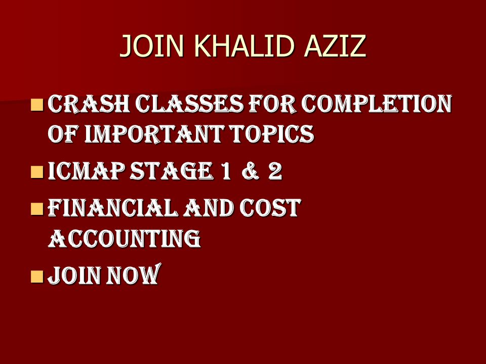 cost accounting important topics