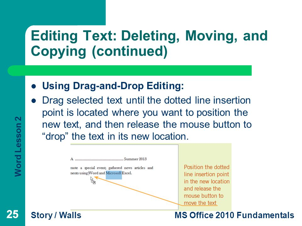 how to move picture in ms word 2010