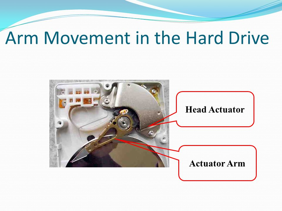 hard drive how to turn the arm